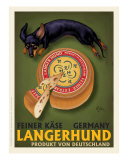 Langerhund Feiner Kase - Dachshund Reproduction d'art par Chad Otis