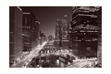 Chicago River Bend  Black & White