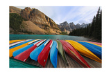 Colorful Boats  Moraine Lake  Alberta