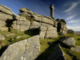 Widgery&#39;s Cross on Brat Tor  Dartmoor Np  Devon  UK