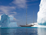 "Sy ""Adele""  180 Foot Hoek Design  Motoring Past Icebergs in Wilhelmina Bay  Antarctica  2007"
