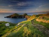Footpath Along the Rumps, Pentire Point, Near Polzeath, Cornwall, UK Papier Photo par Ross Hoddinott