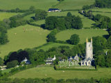 Widecome-In-The-Moor Village Church in Summer  Dartmoor National Park  Devon  UK