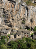 Village Nestled under the Cliffs  La Malene  Gorges Du Tarn  Languedoc  France