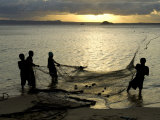 Fishermen Pulling in the Nets at Dawn  Ramena Beach  Diego Suarez  North Madagascar