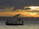 Fishing Boat at Dawn  Ramena Beach  Diego Suarez in North Madagascar