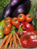 Freshly Harvested Home Grown Organic Vegetables with Organic Label  UK