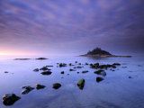 St Michael's Mount at Sunrise  from Marazion Beach  Cornwall  Uk November 2008