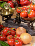 Country Kitchen Scene with Chutney Ingredients and Traditional Kitchen Scales  UK