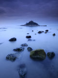 St Michael&#39;s Mount at Sunrise  from Marazion Beach  Cornwall  Uk November 2008