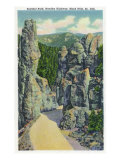 Black Hills  South Dakota - View of Sentinel Rock on the Needles Highway  c1935