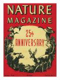 Nature Magazine - 25th Anniversary Issue  View of Wildlife and Birds  c1948