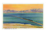 Utah - Train Crossing the Great Salt Lake  c1937