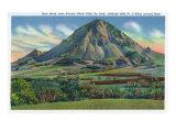 Black Hills  South Dakota - Panoramic View of Bear Butte Near Sturgis  c1935