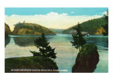 Whidbey Island  Washington - Deception Pass View from Puget Sound  c1928