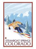 Downhill Skier - Steamboat Springs  Colorado  c2008