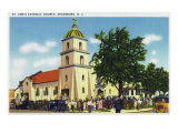 Keansburg  New Jersey - Exterior View of St Ann's Catholic Church  c1937