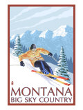 Montana - Big Sky Country - Downhill Skier  c2008