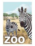 Visit the Zoo - Zebra Scene  c2009