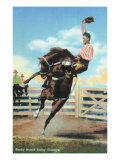 Western Americana - Rodeo Scenes  Smoky Branch Riding a Bucking Glasseye  c1939