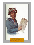 Sequoyah - Portrait of the Cherokee Alphabet Inventor  c1844