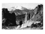 Colorado Springs  Colorado - View of Pikes Peak from Gateway to Garden of the Gods  c1953
