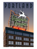 Portland  Oregon - Made in Oregon Sign  c2009
