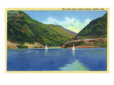 Ogden  Utah - Odgen Canyon  Scenic View of Sailboats on Pine View Lake  c1938