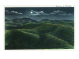 Great Smoky Mts Nat'l Park  Tn - View of the Mountains in the Moonlight  c1940