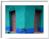 Brightly Painted Corner House in Chinique  Quiche  Guatemala