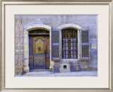 Stone Doorway with Wooden Door and Metal Knocker  Arles  France