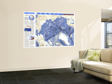 1990 World Ocean Floors  Arctic Ocean Map