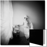 Pinhole Camera Shot of Standing Topless Woman in Hoop Skirt