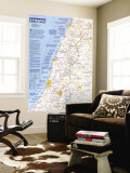 1989 Special Places of the World  Holy Land Map