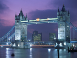 Tower Bridge at Night  London  UK