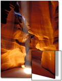 Sun Shining Beam of Light onto Canyon Floor  Slot Canyon  Upper Antelope Canyon  Page  Arizona  USA
