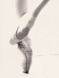 Close-up of Ballerina's Feet and Legs