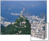 Rio De Janeiro with the Cristo Redentor in the Foreground and the Pao De Acucar in the Background