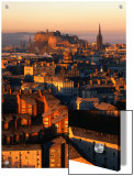 Edinburgh Castle and Old Town Seen from Arthur's Seat  Edinburgh  United Kingdom