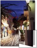 Alleyway at Night  Mykonos  Greece