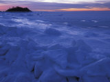 Sea Ice in Buzzards Bay  Cape Cod  Massachusetts  USA