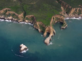 Wave Erosion of a Rocky Headland at Pt Reyes National Seashore  California  Usa Note the Seastack