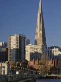 Transamerica Pyramid and Financial District from Pier 9  San Francisco  California