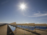 Solar Panels for Electricity Generation  Mojave Desert  California  USA
