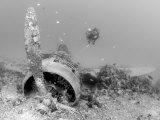 Nakajima B5N2 Kate Torpedo Bomber Wreckage and a Scuba Diver  Papua New Guinea