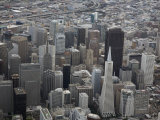 Aerial View of Downtown San Francisco  California