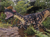 Restoration of Spitter Dinosaur Fossil (Dilophosaurus)  Early Jurassic  195 MYA  Arizona  USA