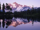 Mt Shuksan Mirrored on Picture Lake  North Cascades National Park  Washington  USA