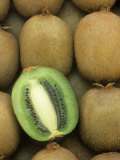 Kiwi (Actinidia Deliciosa) Fruits  One Sliced  Hayward Variety