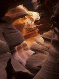 Interior of Lower Antelope Canyon  a Slot Canyon Near Page  Arizona  USA